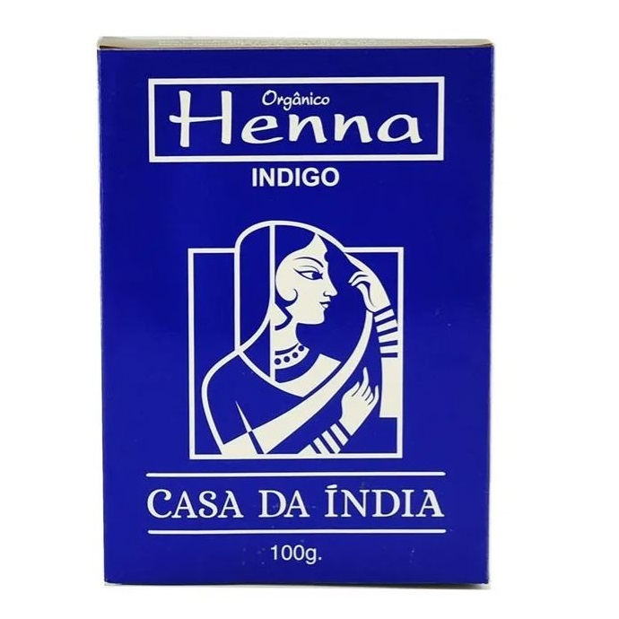 Henna Indiana 100% Natural Indigo 100g Para Cabelo - Casa Da Índia