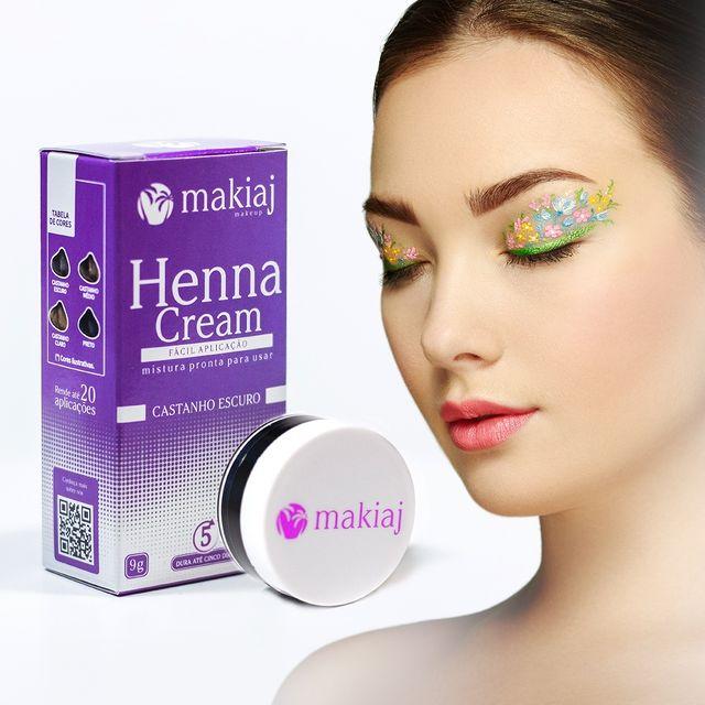 Henna Pronta em Creme Sobrancelhas Efeito Natural - Makiaj Cream