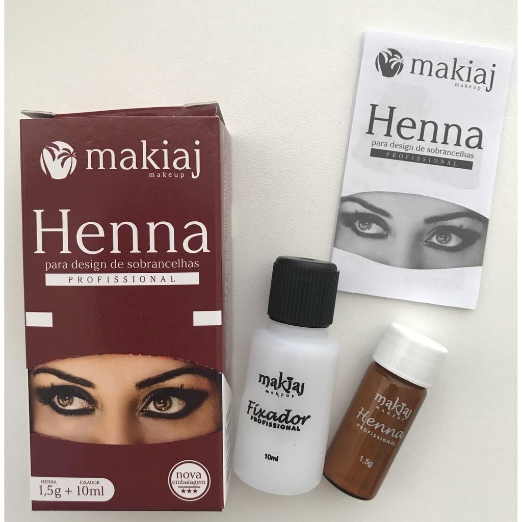 Henna Sobrancelhas Alto Rendimento Fixação Rena Efeito Natural Makiaj