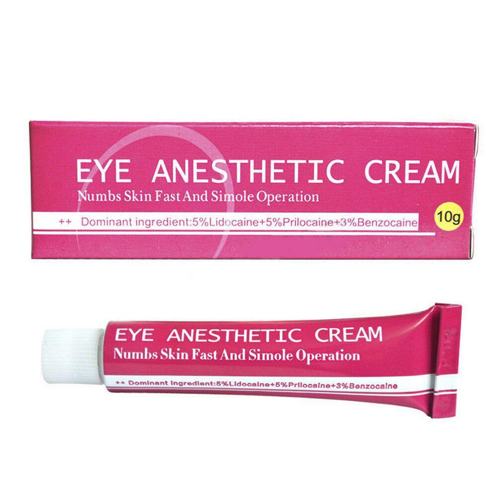 Kit 10 Anestésico Eye Anesthetic Cream Micropigmentação Microblading 10g