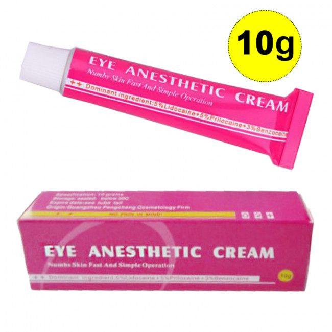 Kit 3 Anestésico Eye Anesthetic Cream Micropigmentação Microblading 10g