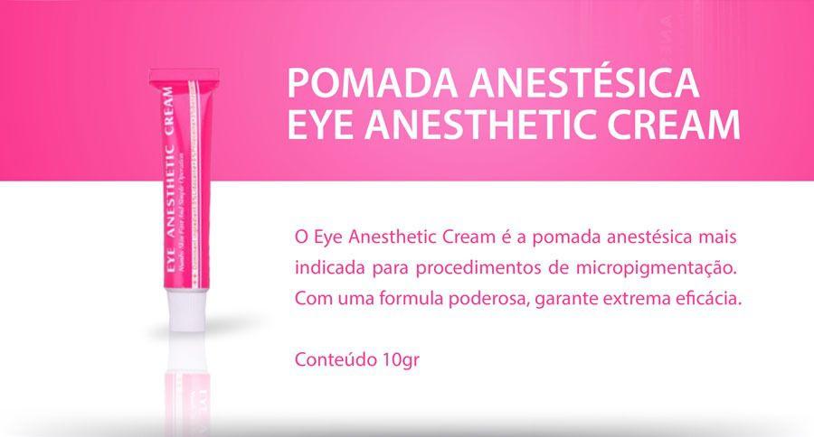 Kit 3 Anestésico Eye Anesthetic Cream Micropigmentação Microblading 10g