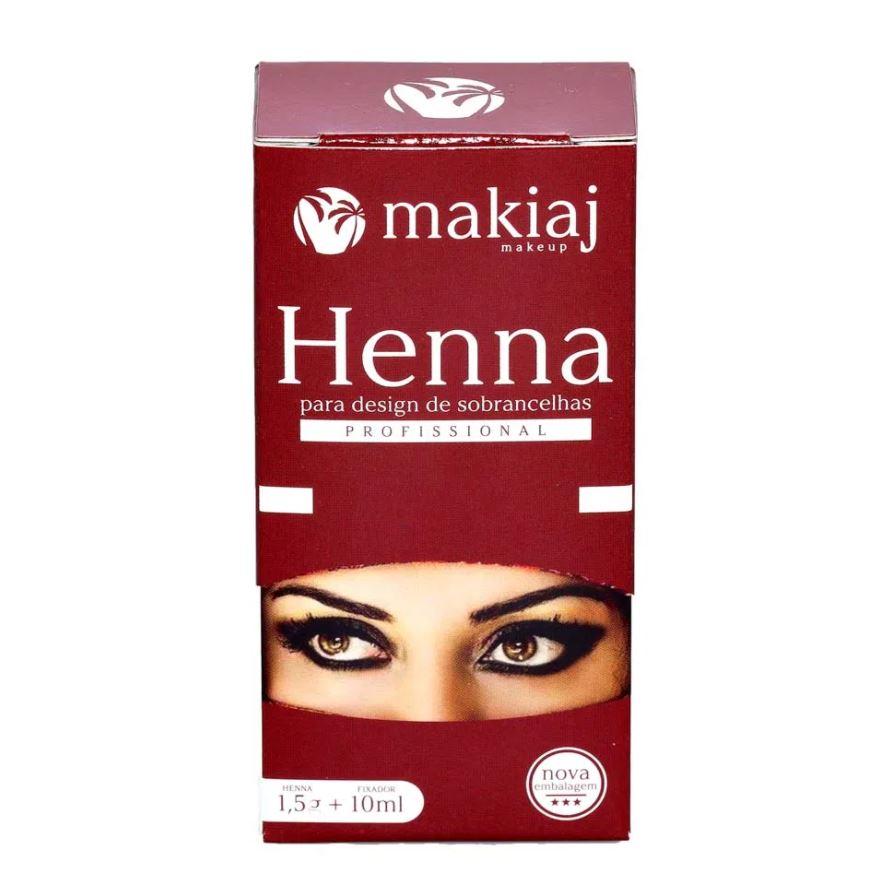 Kit 3 Henna Sobrancelha Efeito Natural Cores Castanhos - Makiaj