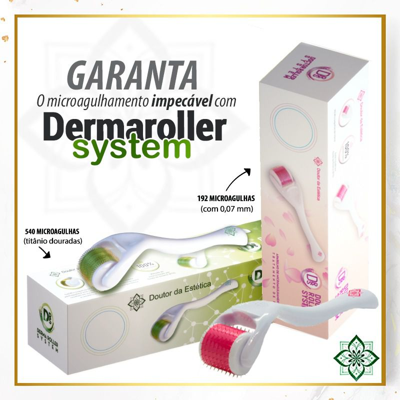 Kit 3un Derma Roller Microaguhamento Doutor da Estética - 1,5mm