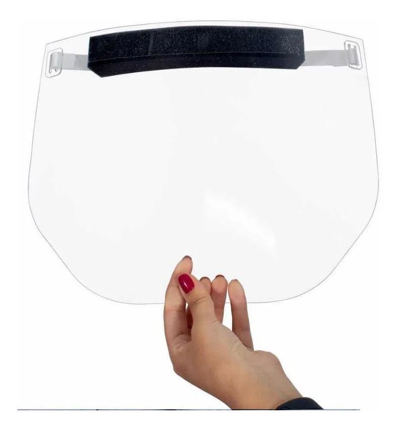 Kit 5 Máscara Facial Protetora Contra Respingos Face Shield Interlaser