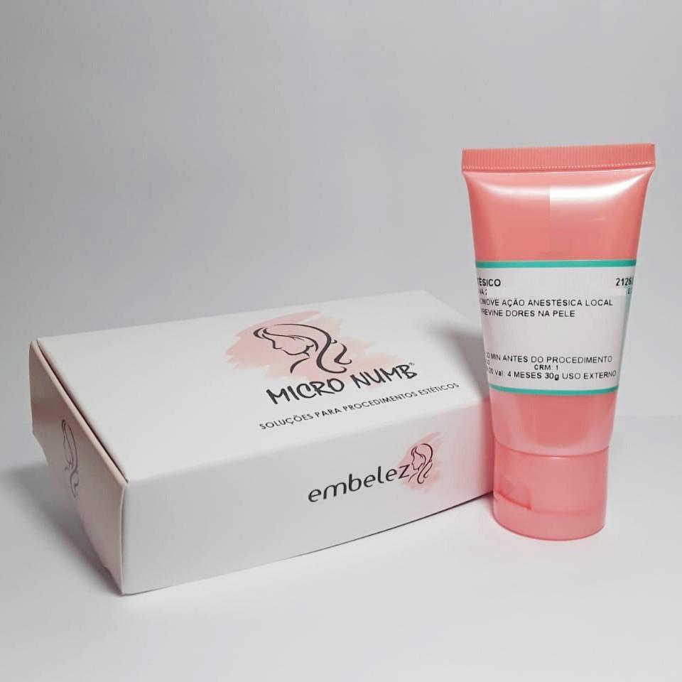 Kit Anestésico Pele Aberta Epinefrina Zero Dor + Pele Fechada Micro Numb - 30g + 30g