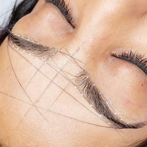 Linha Pigmentada Marcação Sobrancelha Mapeamento Henna Namasi