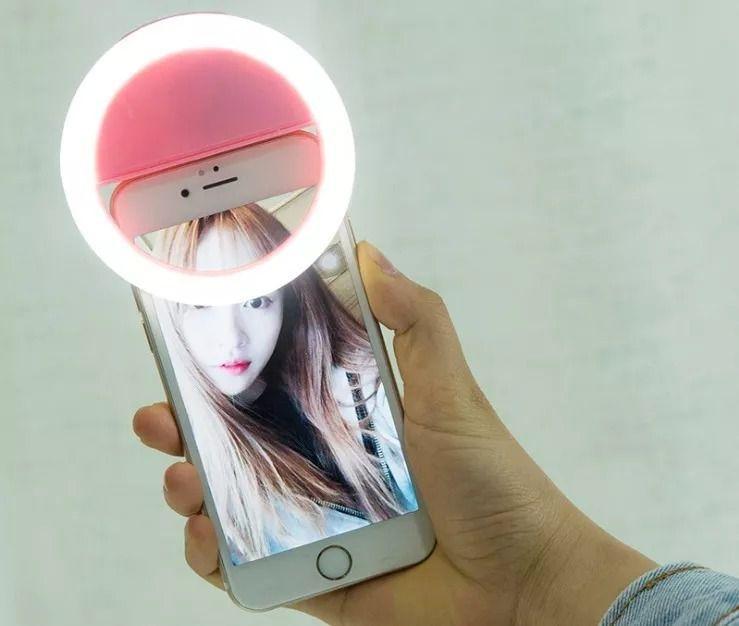 Luz de Selfie Para Celular Smartphone Tablet Lua Tek 36 Leds Rosa