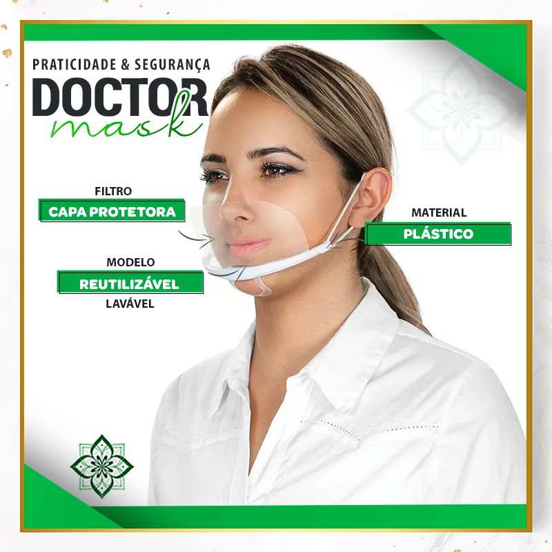Mascara Transparente Higienica Micropigmentação Doctor Mask Doutor da Estetica