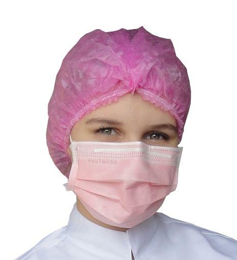 Máscara Tripla Proteção Bacteriana Descartável ProtDesc ROSA - Caixa 50un