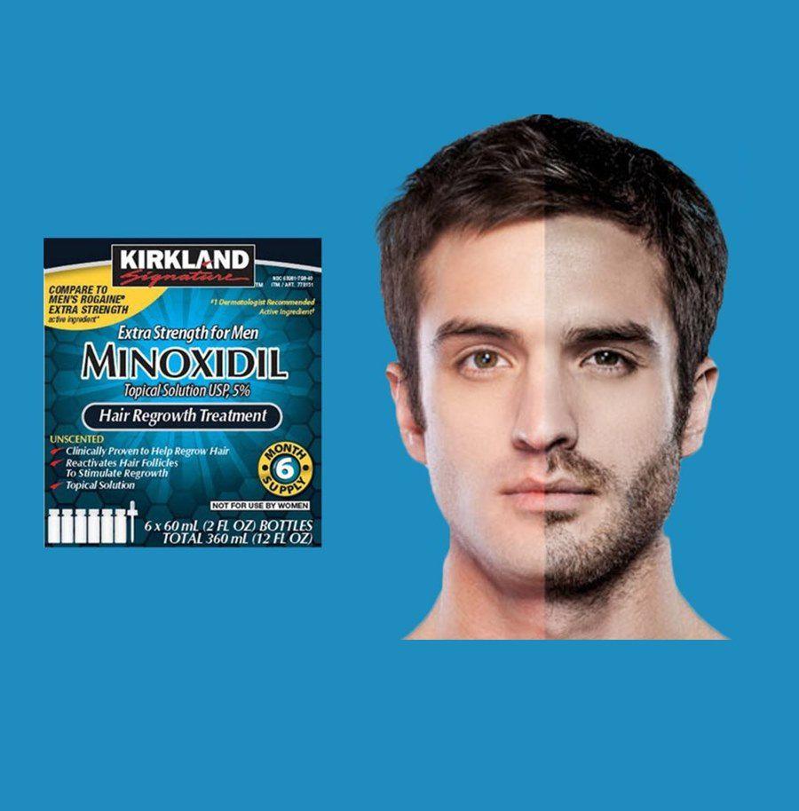 Minoxidil Kirkland Signature Para Barba e Cabelo - Original Importado - 6 Unidades