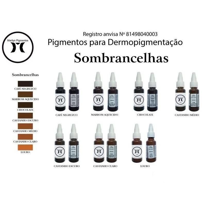 Pigmento Micropigmentação Sobrancelhas Olhos Boca Pele Marilyn - 15ml