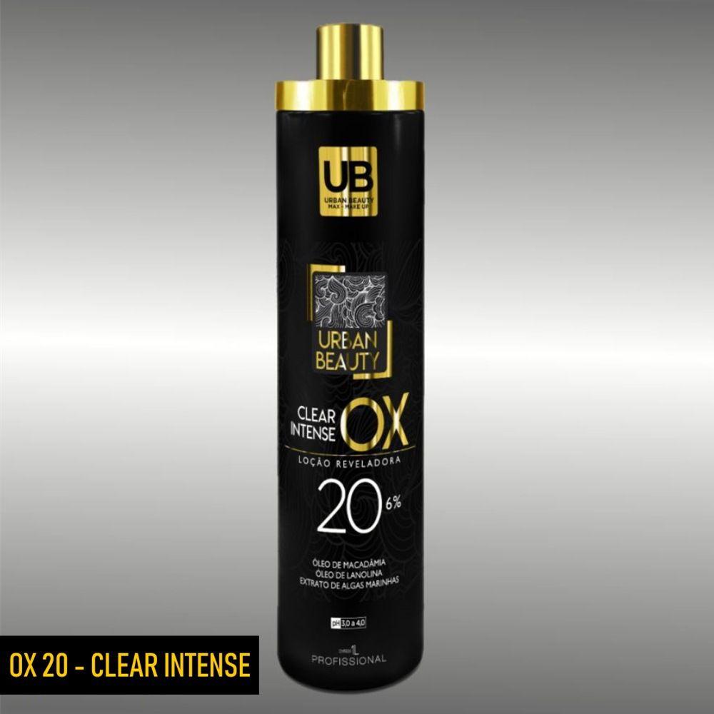 Pó Descolorante + Agua Oxigenada Cremosa Loção Reveladora Ox 20 - Clear Intense