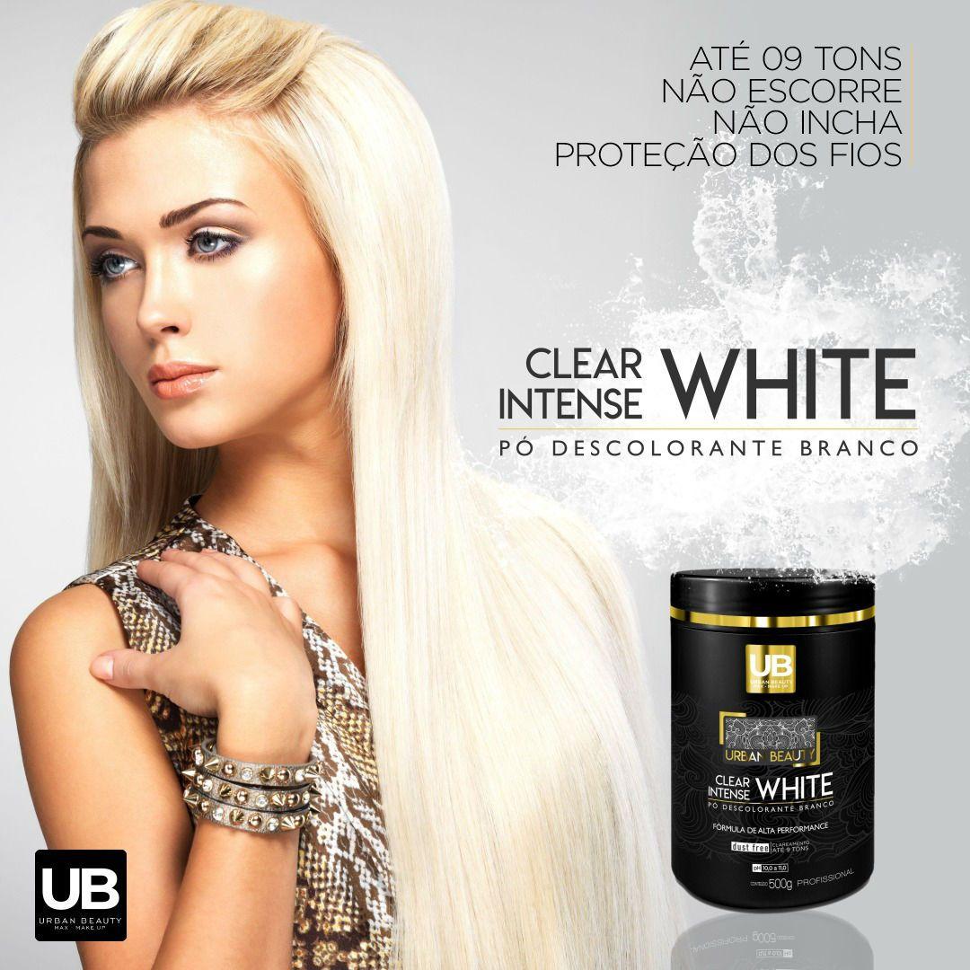 Pó Descolorante Premium 9 Tons Dust Free Clear Intense White - 500g
