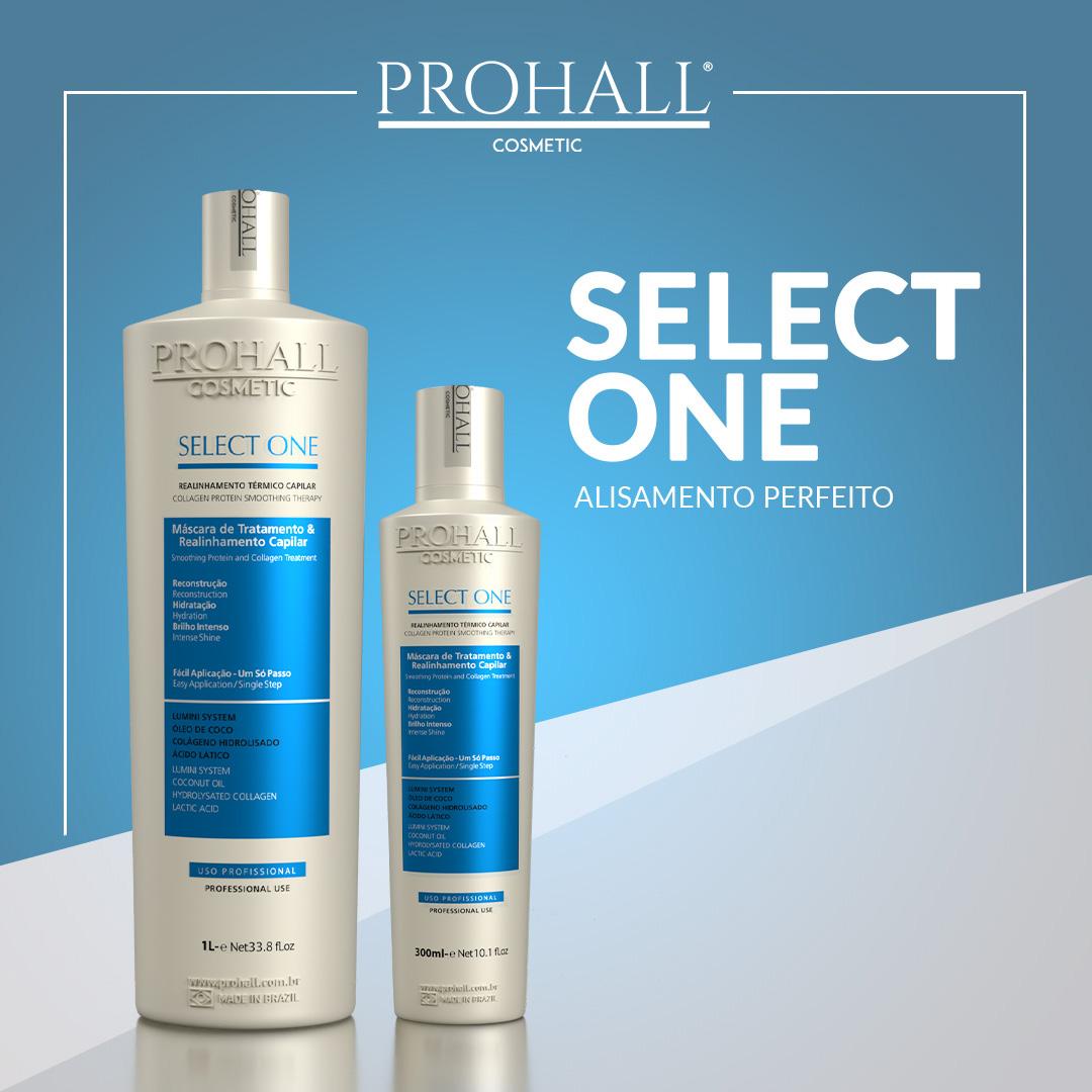 Progressiva Prohall Passo Único Select One - 300ml