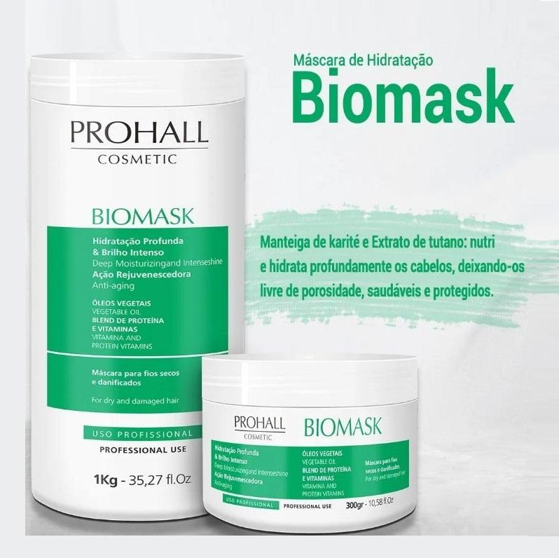 Prohall Btx Platinum Matizador 1 Kg + Biomask Ultra Hidratante Teia 1 Kg