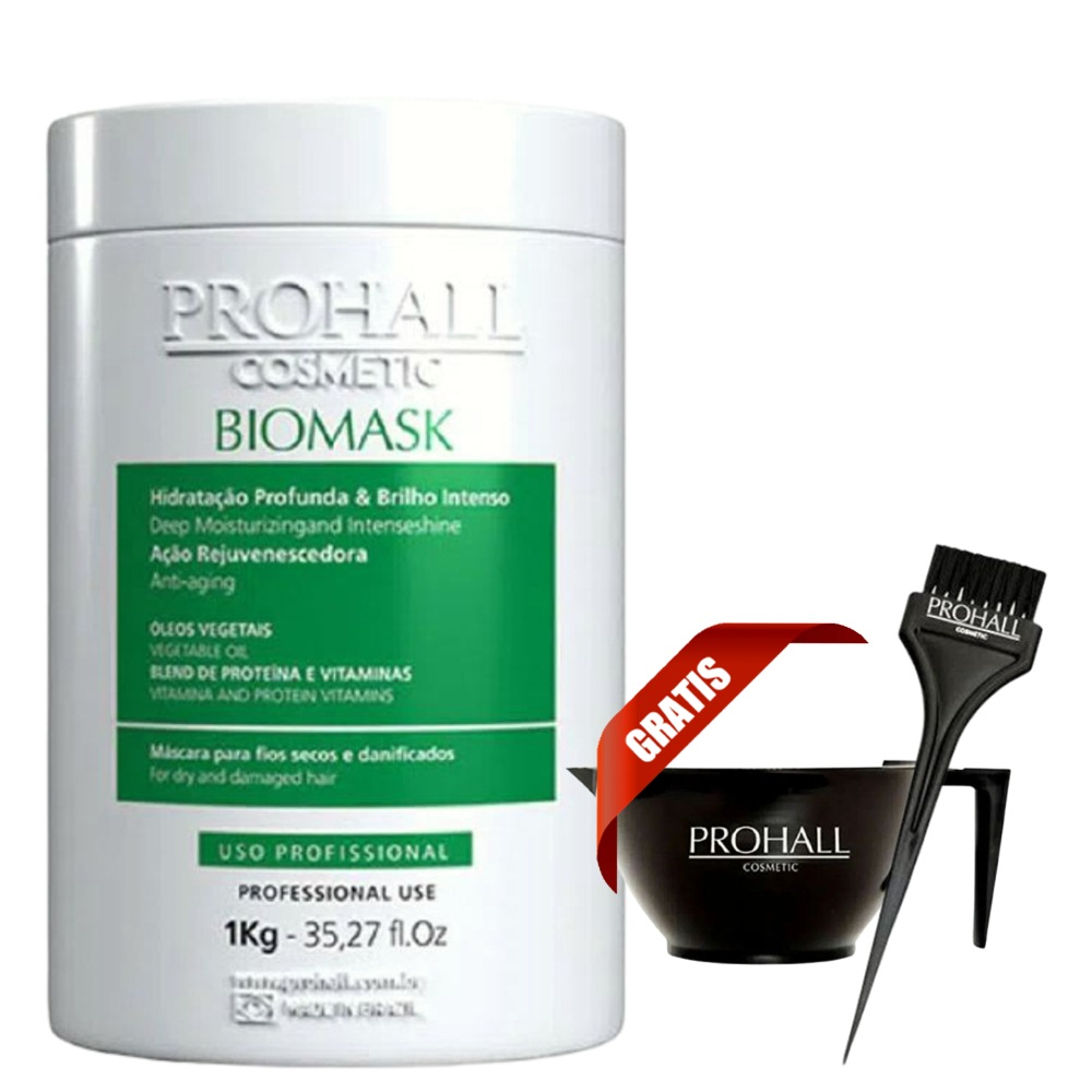 Prohall Mascara Btx Max Repair 1 Kg + Biomask Ultra Hidratante Teia 1 Kg