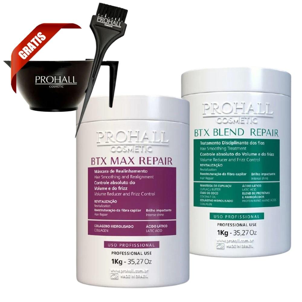 Prohall Mascara Btx Max Repair 1 Kg + Btx Blend Repair Organico 1 Kg