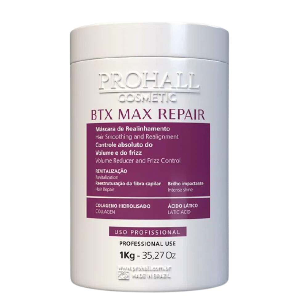 Prohall Mascara Btx Max Repair 1 Kg + Btx Platinum Matizador 1 Kg