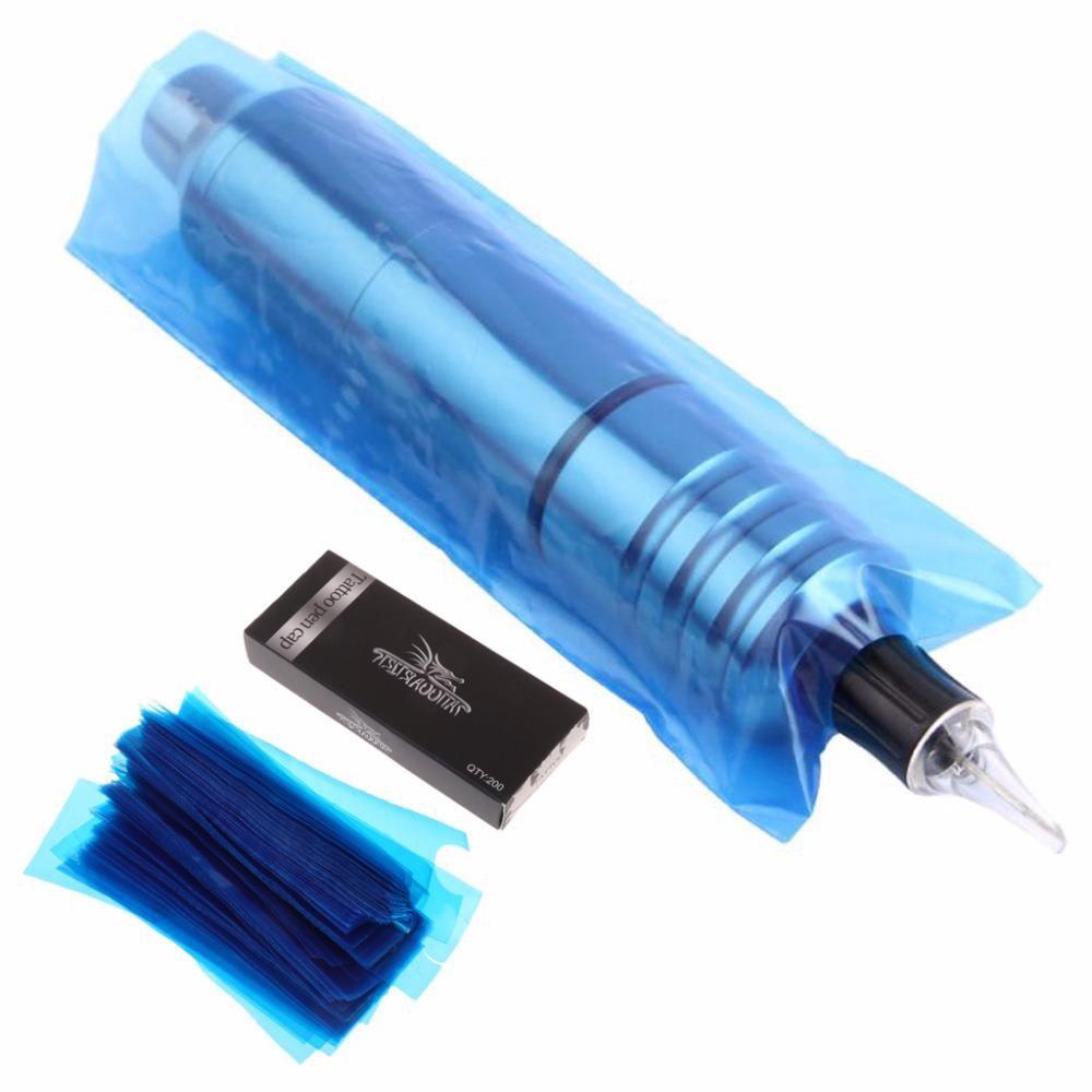 Protetor Maquina Tatuagem Tattoo Azul - 200 Unidades
