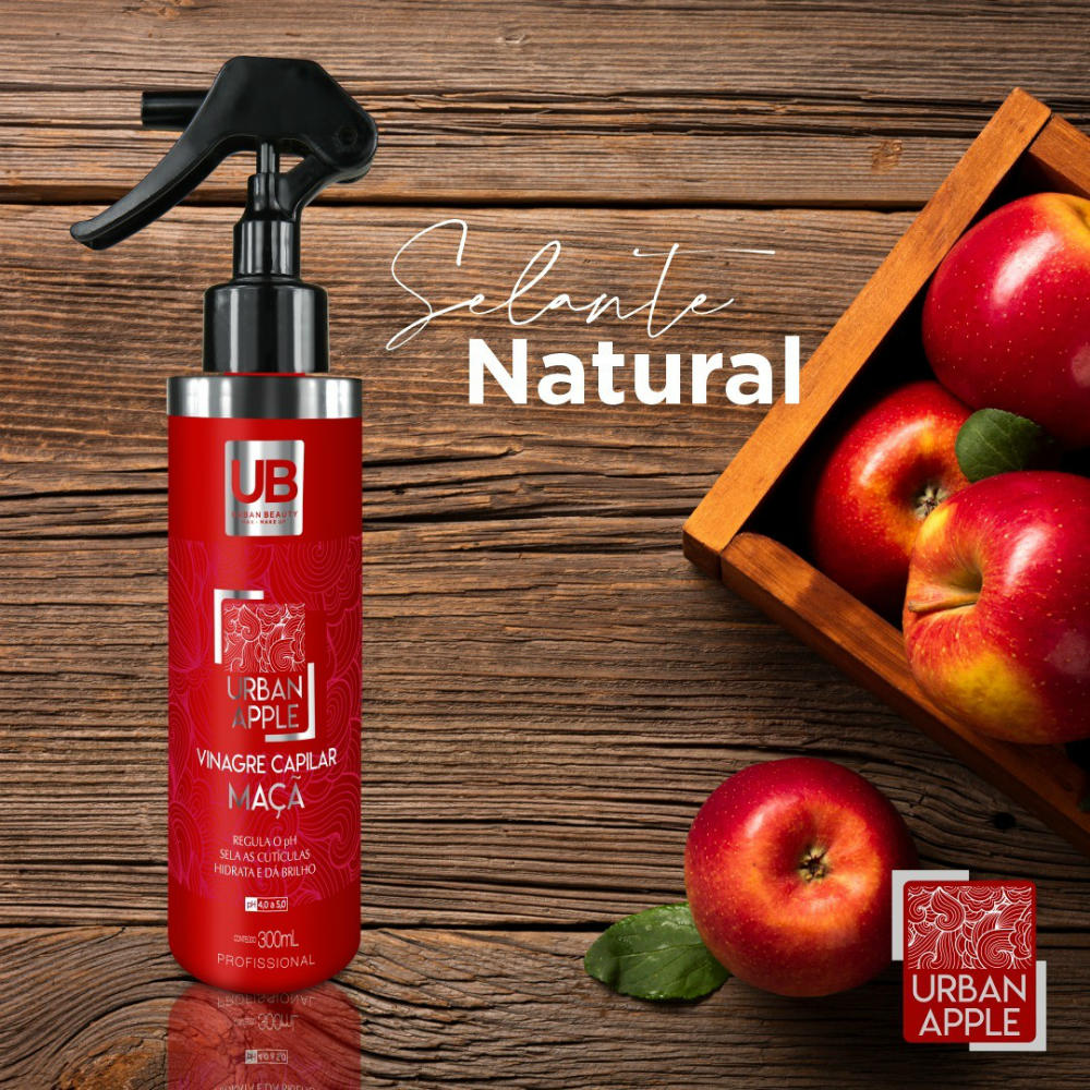 Selante Natural de Maçã Selagem Capilar Natural Urban Beauty - 300ml