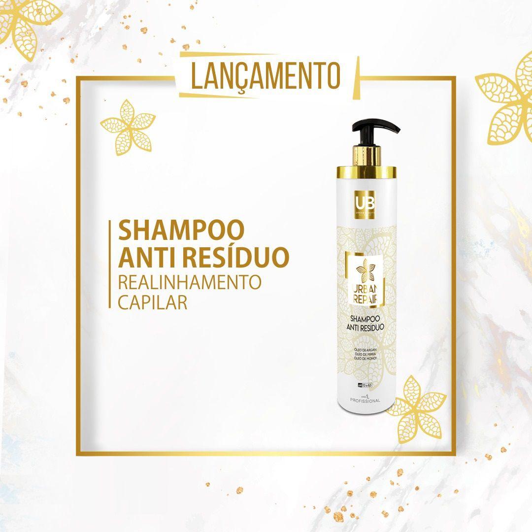 Shampoo Anti Resíduo Limpeza Reconstrução Capilar Urban Repair - 1 Litro