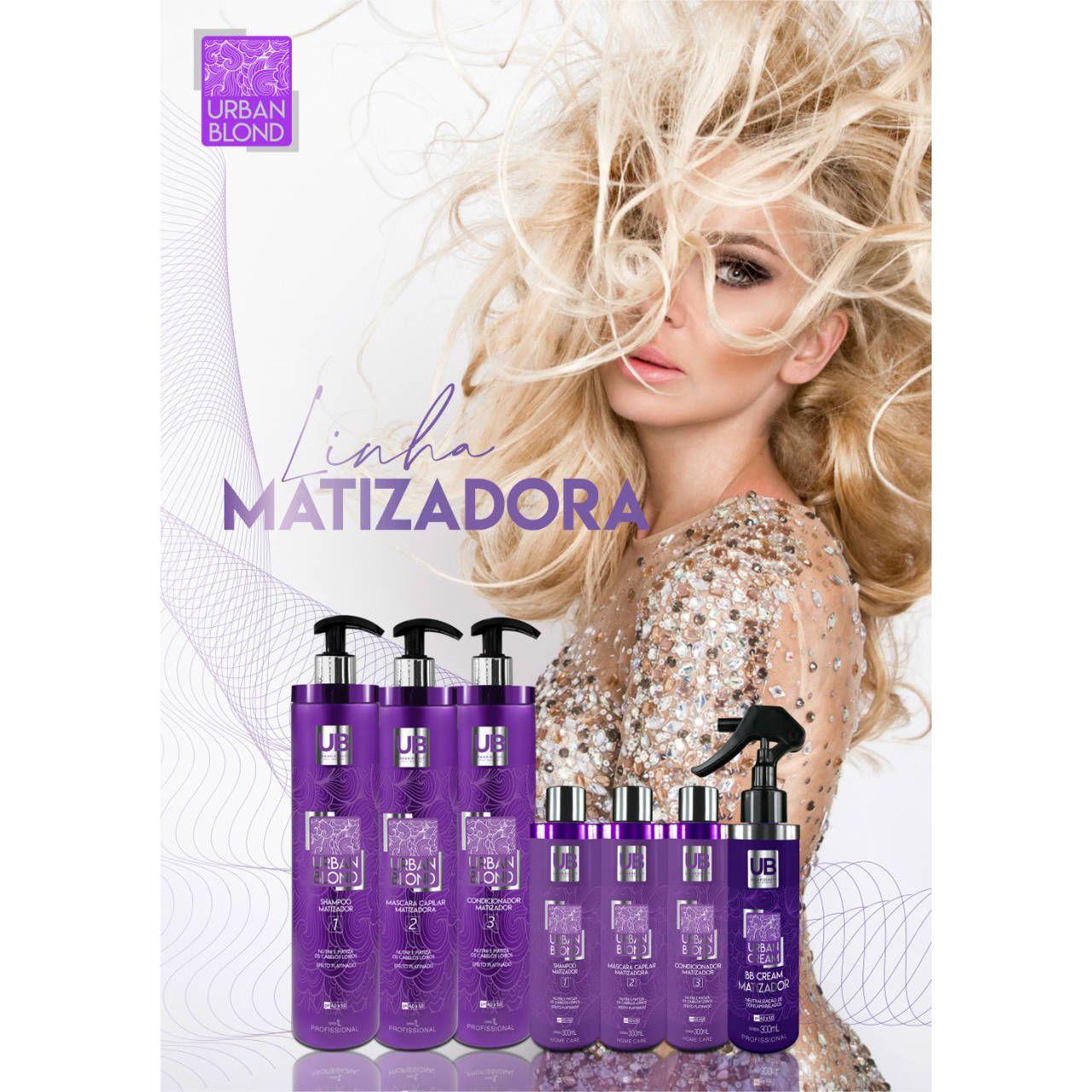 Shampoo Matizador Cabelos Loiros Descoloridos Grisalhos Urban Blond - 1 Litro
