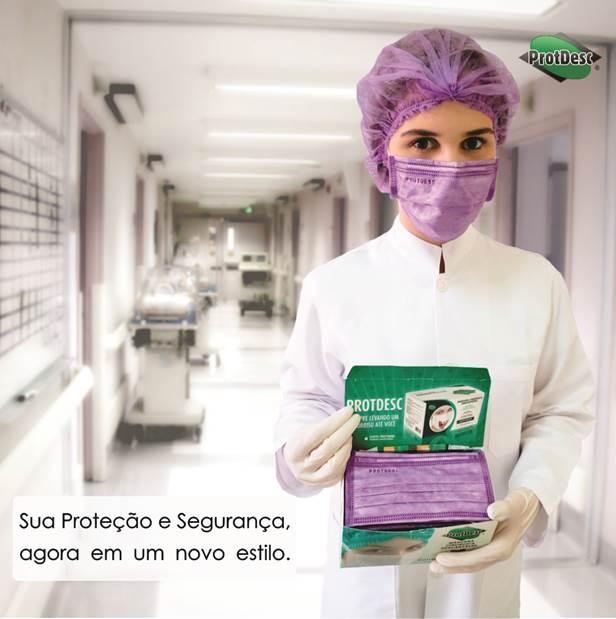 Touca Sanfonada LILAS Descartável ProtDesc - 100 Unidades