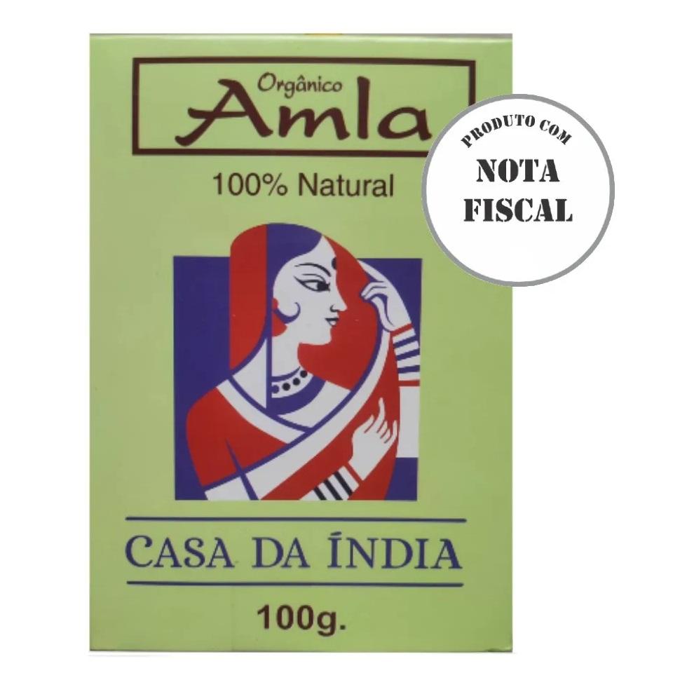 Tratamento Amla Indiana Pó 100% Natural 100g Para Cabelo - Casa Da Índia