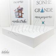 Bandeja de Madeira | Branca 29x23x4,5cm (LA1039)