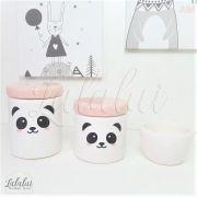 Kit de Potes   Panda e Tampa Rosa Candy - P47