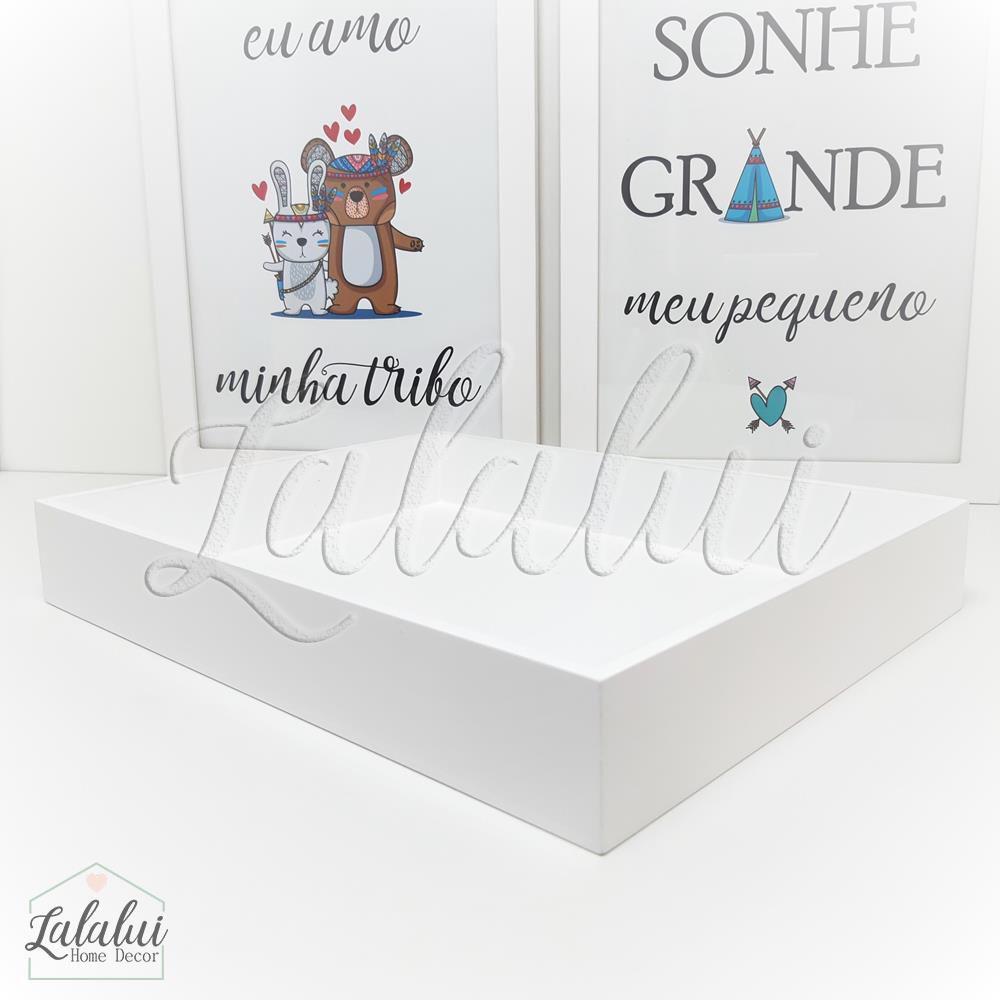 Bandeja de Madeira | Branca 28x22x4,5cm - B05