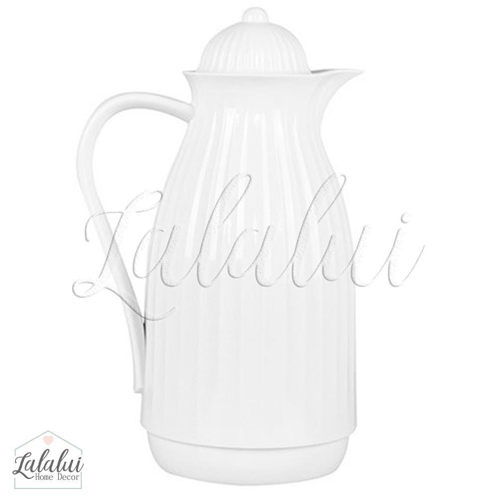 Garrafa Térmica | Branca Canelada 1L - Modali Baby (ORIGINAL)