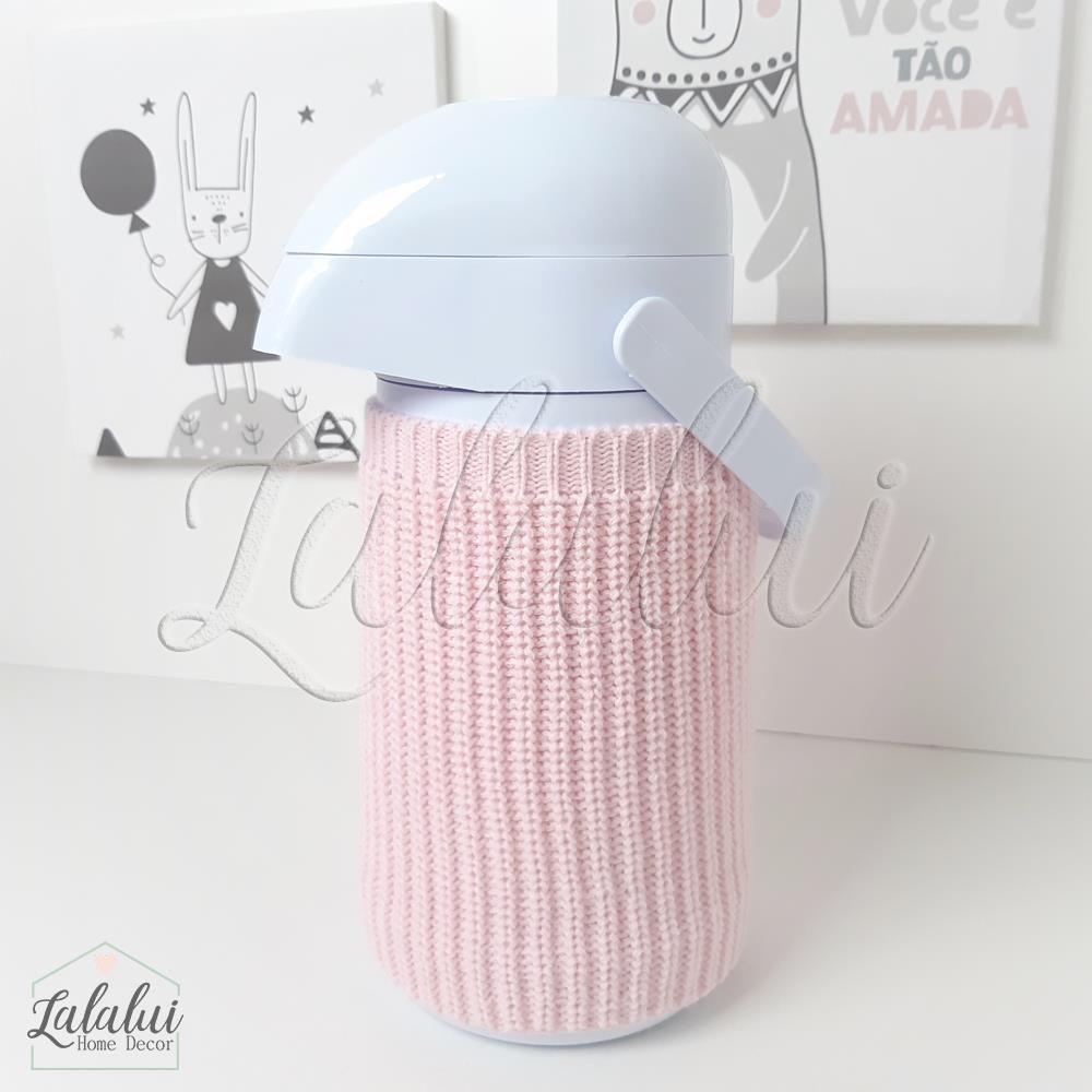 Garrafa térmica | Branca com capinha de tricot - G05