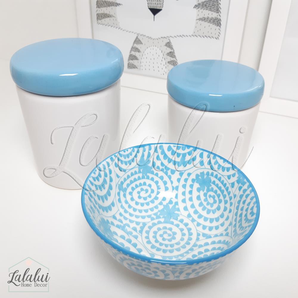 Kit de Potes | Branco e Azul - P19