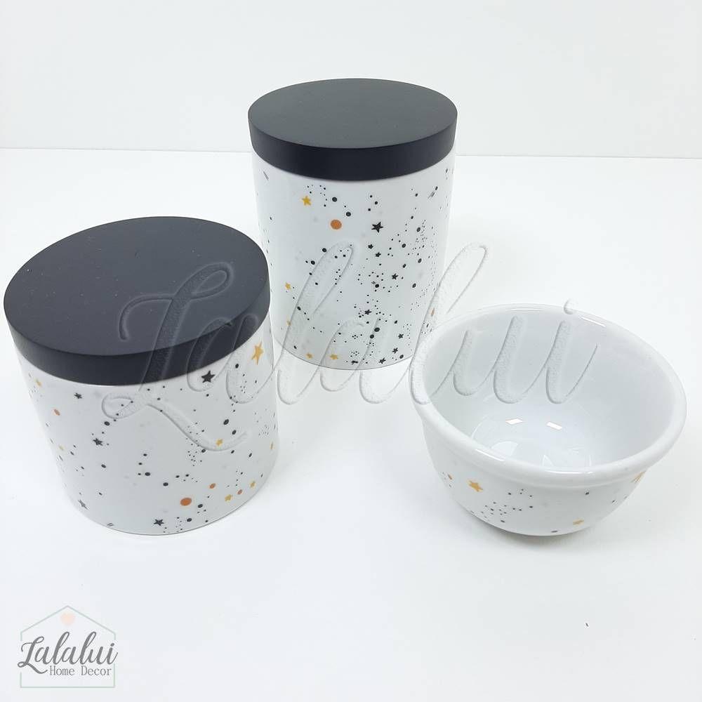 Kit de Potes | Universo Preto e Branco (LA2075)