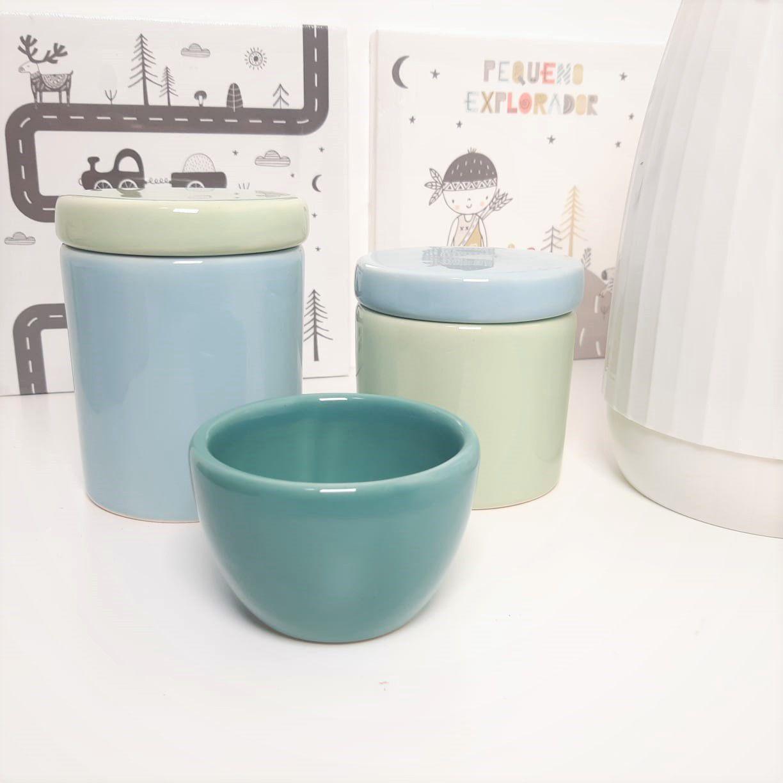 Kit de Potes | Verde Menta, Turquesa e Azul Candy P44