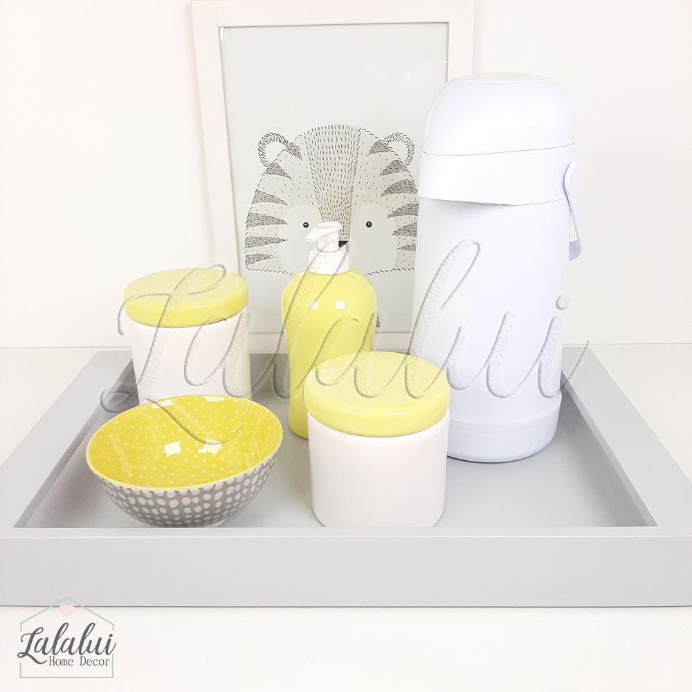 Kit Higiene Amarelo e Branco K15
