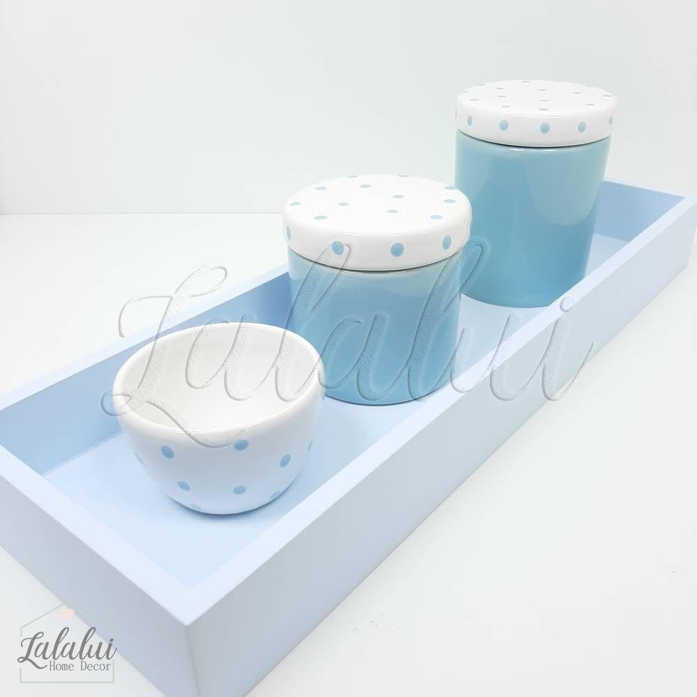 Kit Higiene | Azul Candy com poás (LA322)