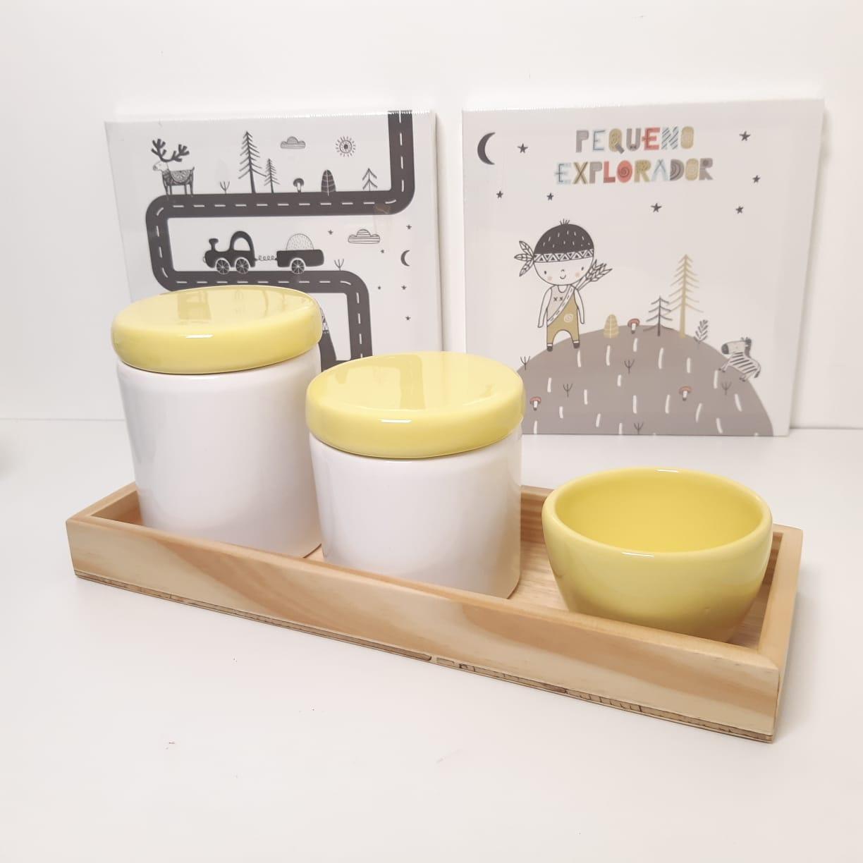 Kit Higiene |Branco e Amarelo - K13