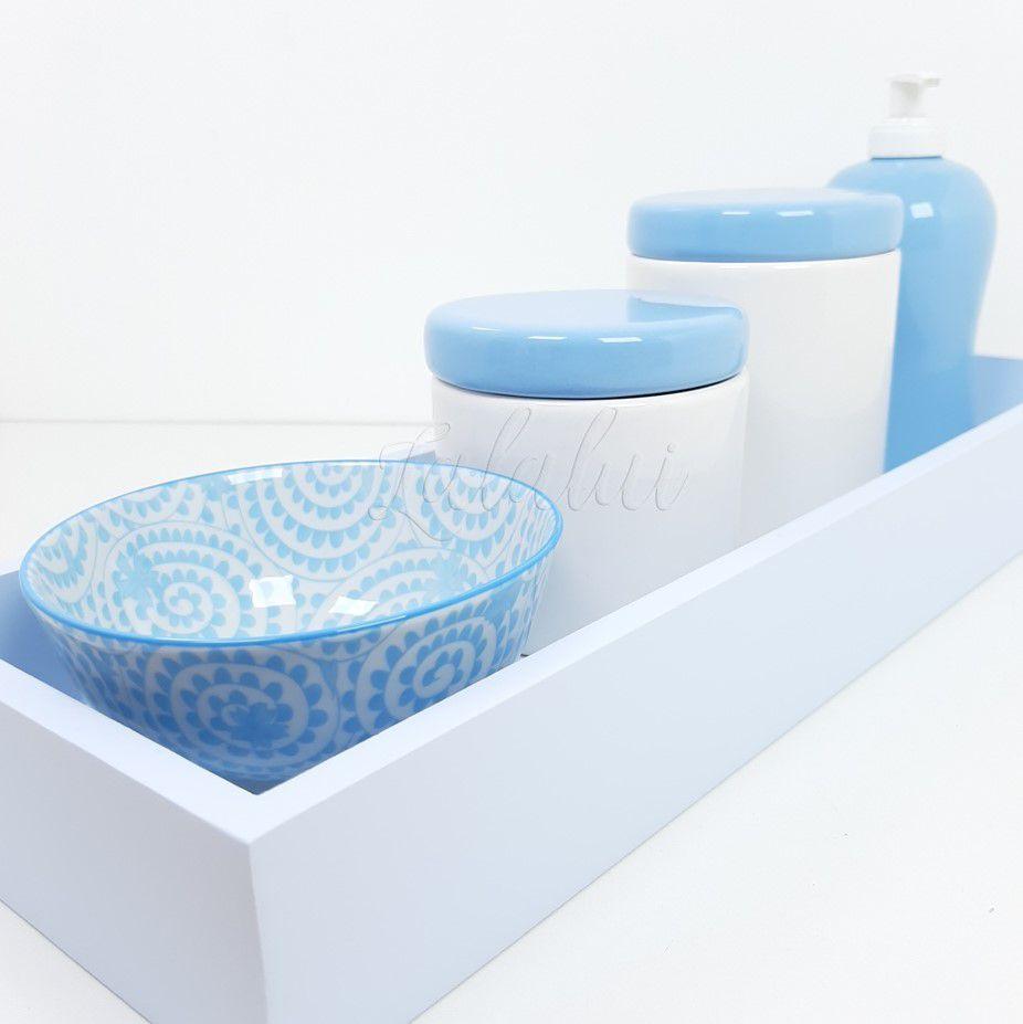Kit Higiene | Branco e Azul (LA0319)