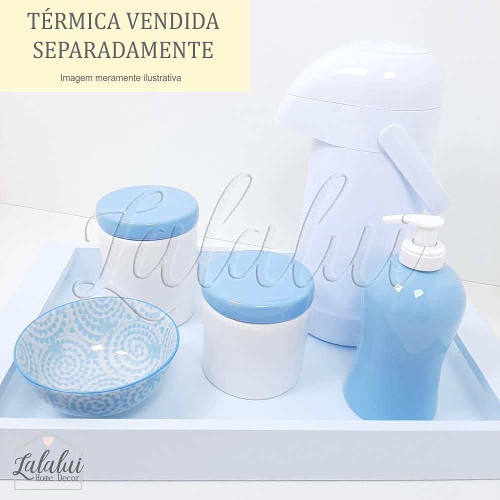 Kit Higiene | Branco e Azul (LA319)
