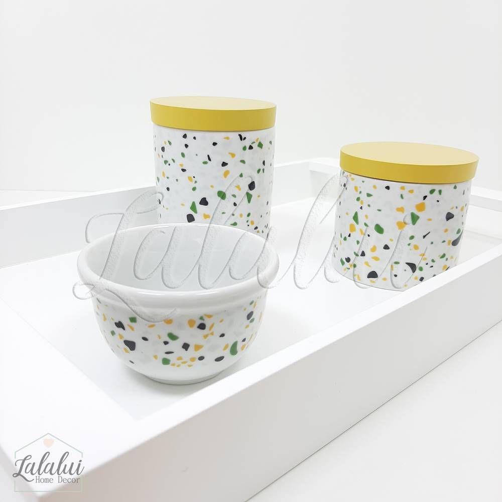 Kit Higiene | Terrazo Verde e Amarelo (LA2187)