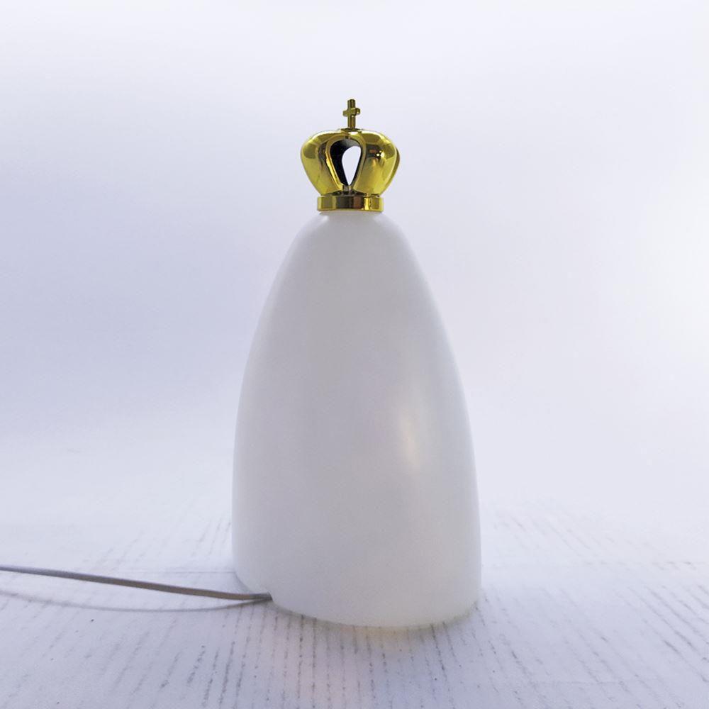 Luminária   Nossa Senhora Com Coroa e fio - cor Natural (LA2091)