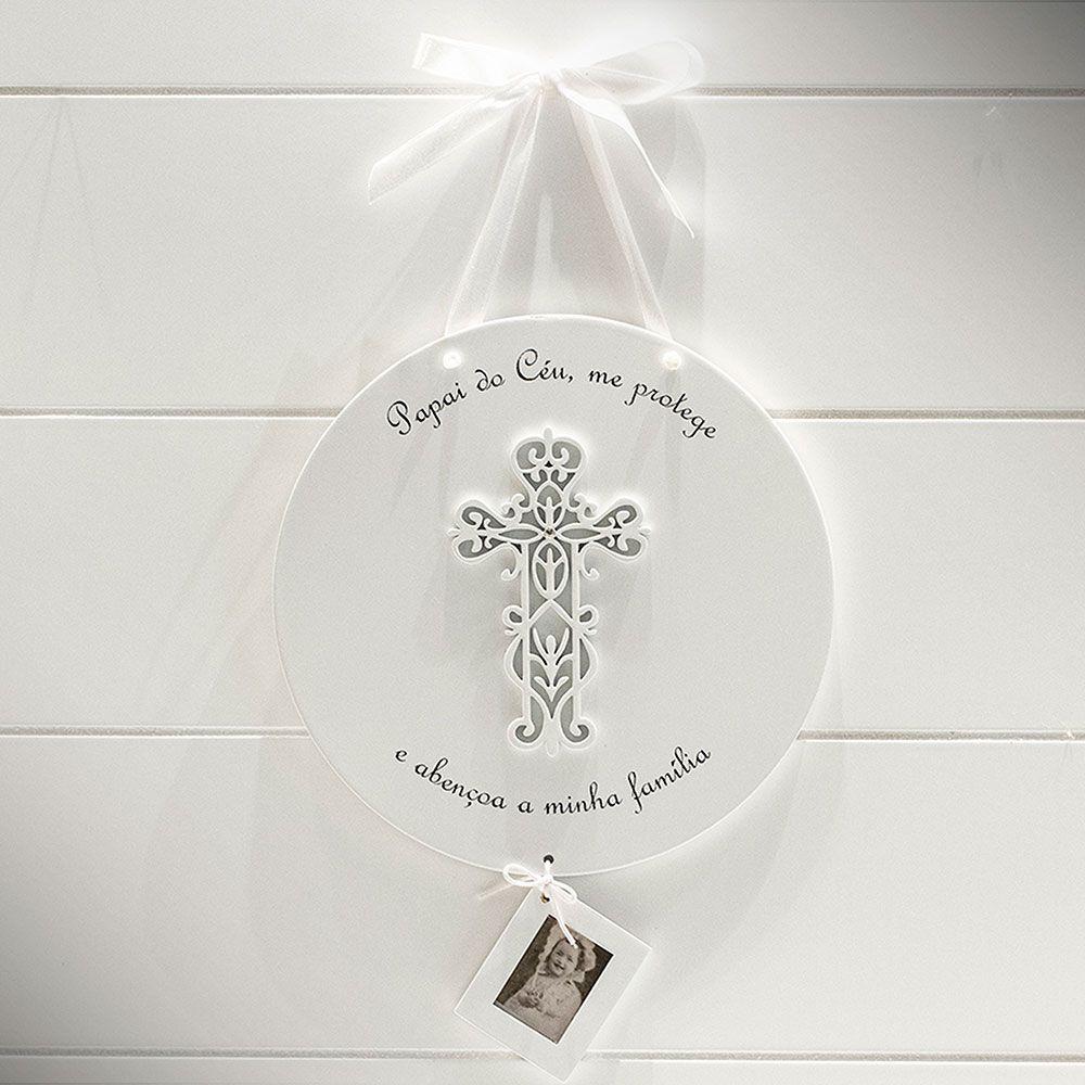 Placa Redonda   Crucifixo