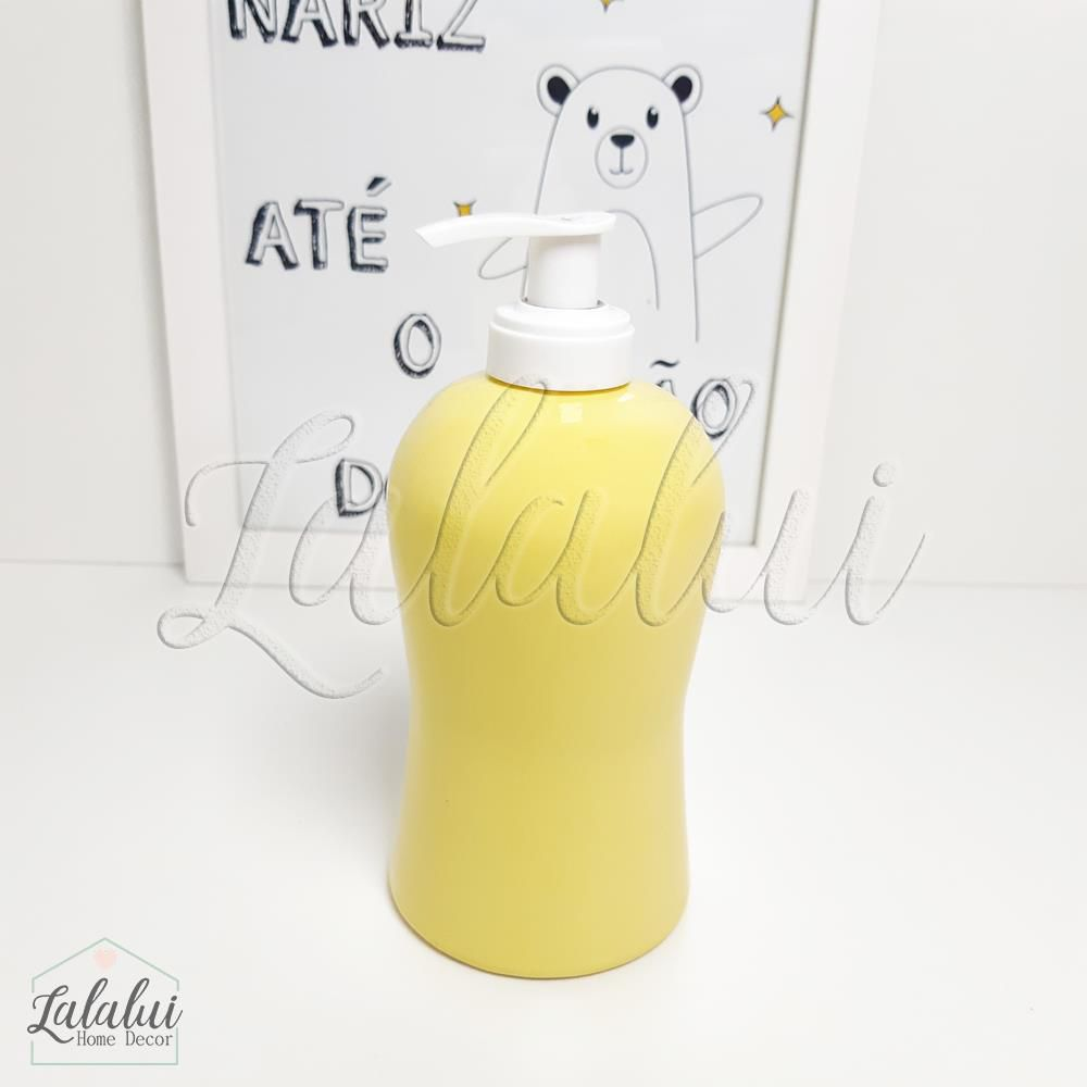 Dispenser para Álcool Gel | Amarelo Candy - P21
