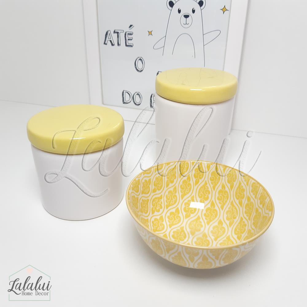 Kit de Potes | Branco e Amarelo - P18