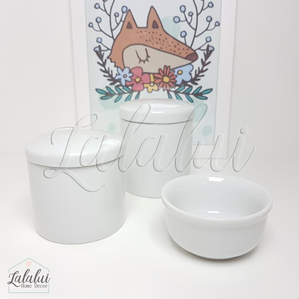 Kit de Potes | Porcelana Branca - P27
