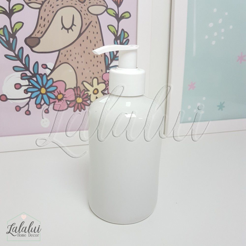 Dispenser para Álcool Gel | Porcelana Branca - P03