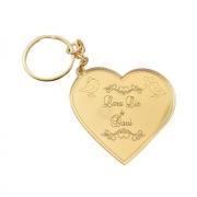 Chaveiros Casamento Acrílico Dourado Espelhado Coração Personalizados